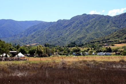 Campground the Barn in Marahau close to the Abel Tasman Natioanlaprk