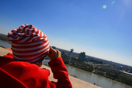 Aussicht von der Burg in Bratislava