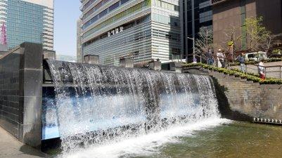 Cheonggye River, Seoul, Korea